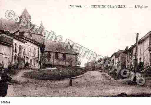 Ville de CHEMINON, carte postale ancienne