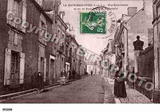 Ville de DESCARTES, carte postale ancienne