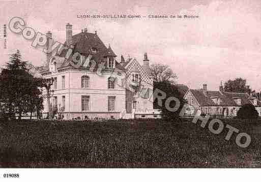 Ville de LIONENSULLIAS, carte postale ancienne