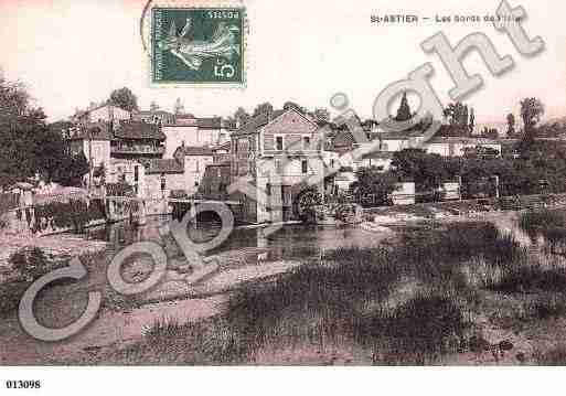 Ville de SAINTASTIER, carte postale ancienne