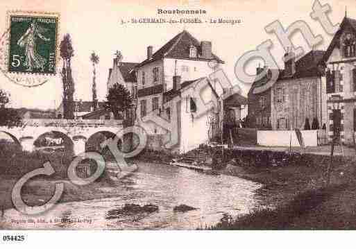 Ville de SAINTGERMAINDESFOSSES, carte postale ancienne