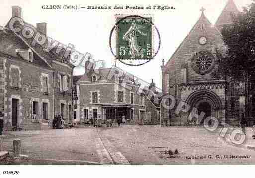 Ville de CLION, carte postale ancienne