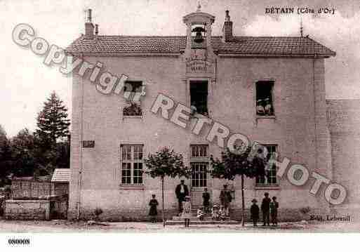 Ville de DETAIN, carte postale ancienne