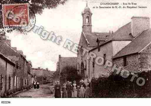 Ville de GRANDCHAMP, carte postale ancienne