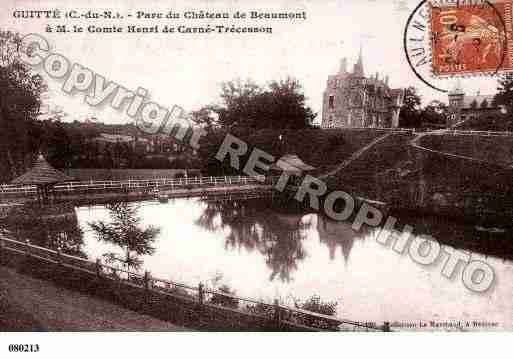 Ville de GUITTE, carte postale ancienne