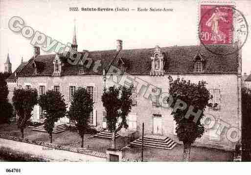 Ville de SAINTESEVERESURINDRE, carte postale ancienne