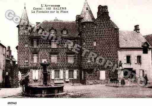 Ville de SALERS, carte postale ancienne