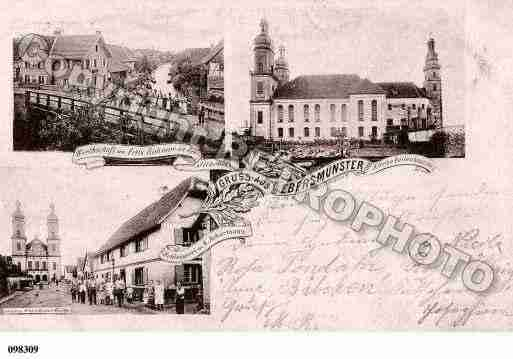 Ville de EBERSMUNSTER, carte postale ancienne