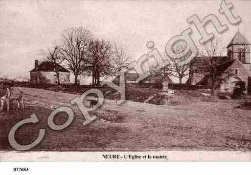 Ville de NEURE, carte postale ancienne