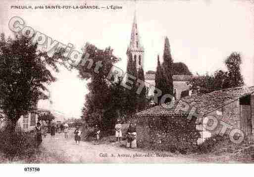 Ville de PINEUILH, carte postale ancienne