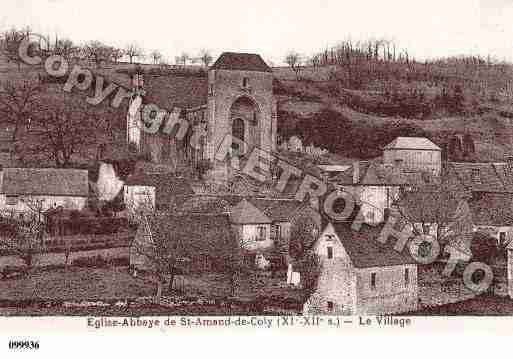 Ville de SAINTAMANDDECOLY, carte postale ancienne