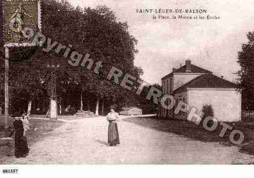 Ville de SAINTLEGERDEBALSON, carte postale ancienne