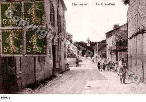 Ville de CHAMESSON, carte postale ancienne