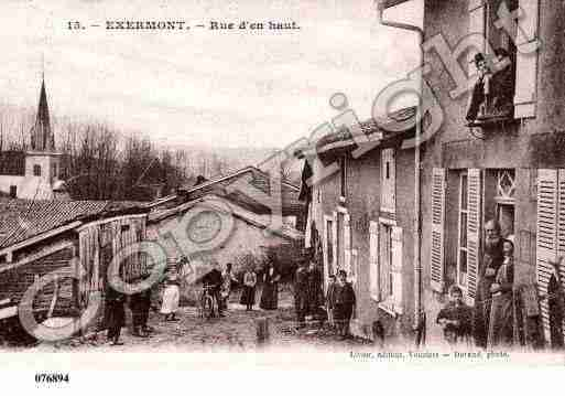 Ville de EXERMONT, carte postale ancienne