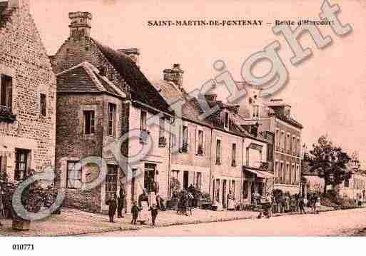 Ville de SAINTMARTINDEFONTENAY, carte postale ancienne