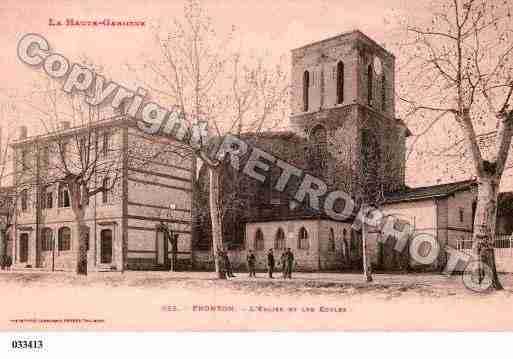 Villes et villages en cartes postales anciennes .. - Page 25 Photos-carte-fronton-haute-garonne-PH024479-B