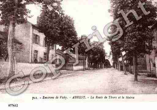 Ville de ABREST, carte postale ancienne