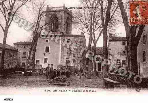 Ville de AUTHEZAT, carte postale ancienne
