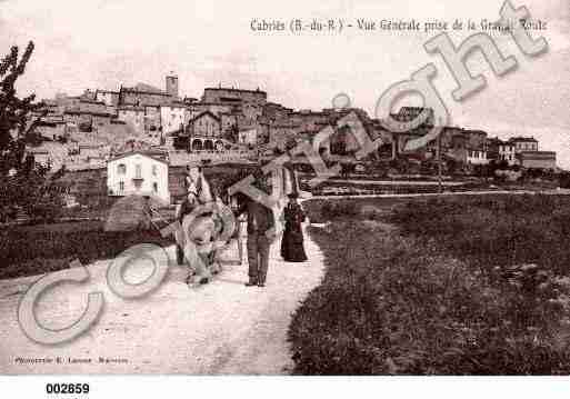 Ville de CABRIES, carte postale ancienne