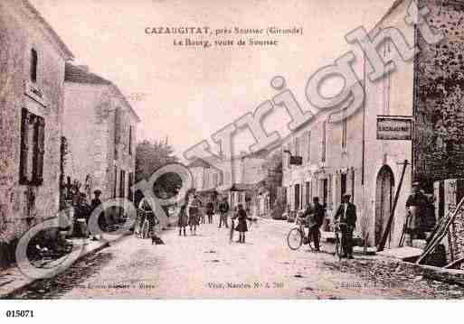 Ville de CAZAUGITAT, carte postale ancienne