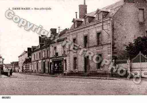 Ville de DAMEMARIELESBOIS, carte postale ancienne
