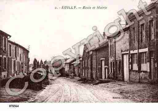 Ville de EUILLY, carte postale ancienne