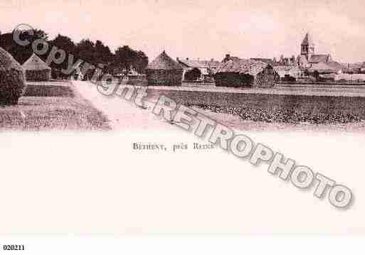 Ville de BETHENY, carte postale ancienne