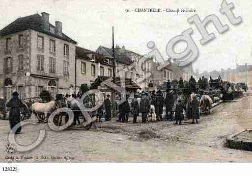 Ville de CHANTELLE, carte postale ancienne