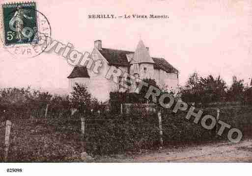 Ville de REMILLY, carte postale ancienne
