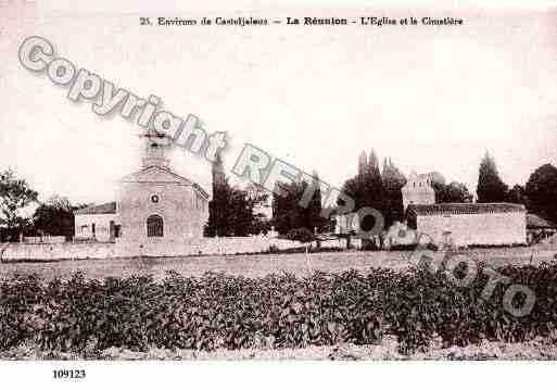 Ville de REUNION(LA), carte postale ancienne