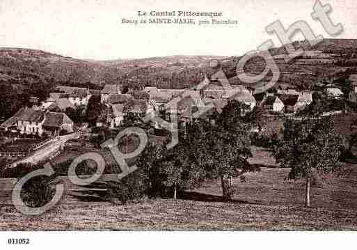 Ville de SAINTEMARIE, carte postale ancienne