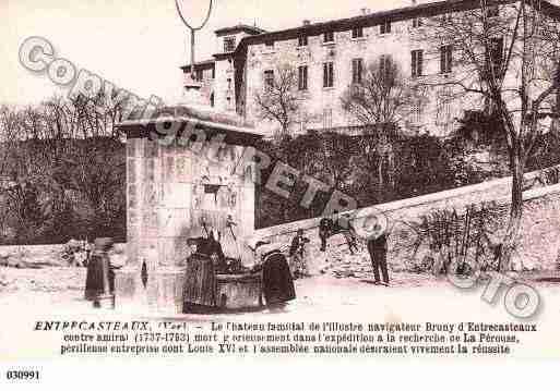 Château d'Entrecasteaux- carte postale ancienne