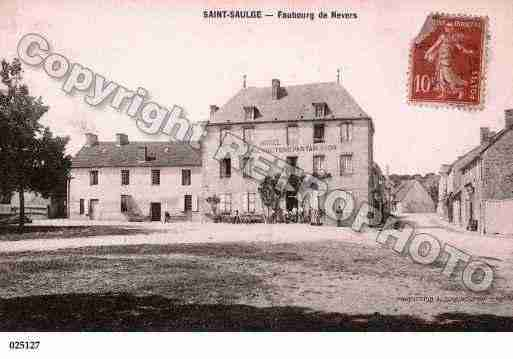 Ville de SAINTSAULGE, carte postale ancienne