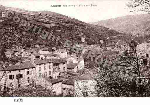 Ville de AUZON, carte postale ancienne