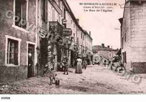 Ville de SAINTROMAINLACHALM, carte postale ancienne
