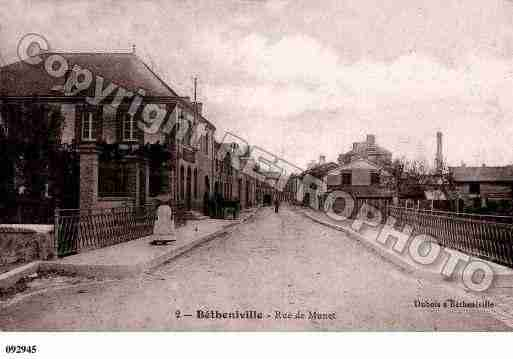 Ville de BETHENIVILLE, carte postale ancienne