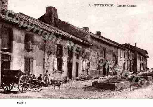 Ville de METZERESCHE, carte postale ancienne