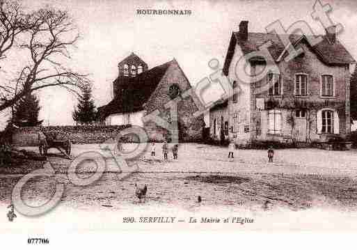 Ville de SERVILLY, carte postale ancienne
