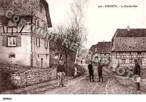 Ville de STRUETH, carte postale ancienne