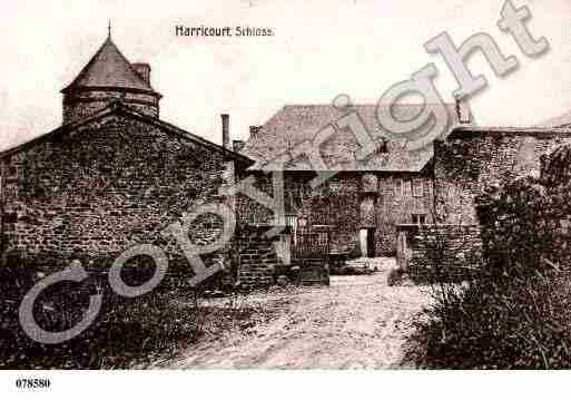 Ville de HARRICOURT, carte postale ancienne