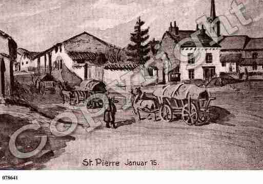 Ville de SAINTPIERREAARNES, carte postale ancienne