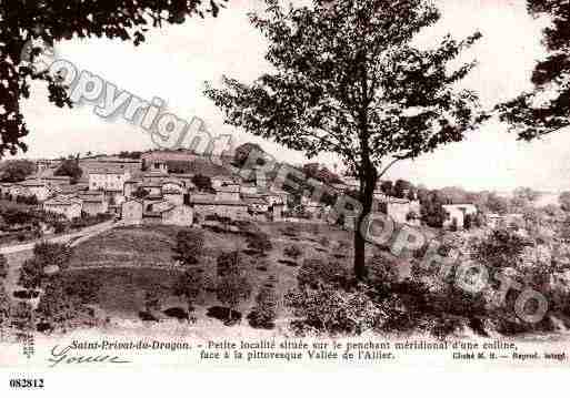 Ville de SAINTPRIVATDUDRAGON, carte postale ancienne