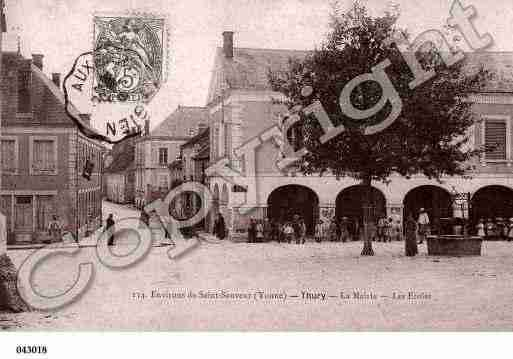 Ville de THURY, carte postale ancienne