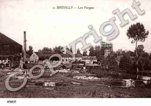 Ville de BREVILLY, carte postale ancienne