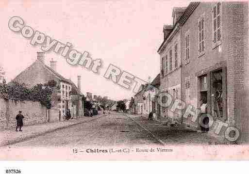 Ville de CHATRESSURCHER, carte postale ancienne