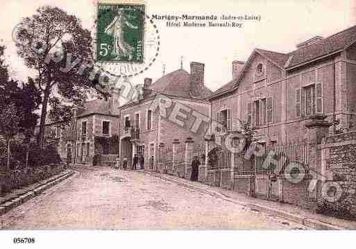 Ville de MARIGNYMARMANDE, carte postale ancienne