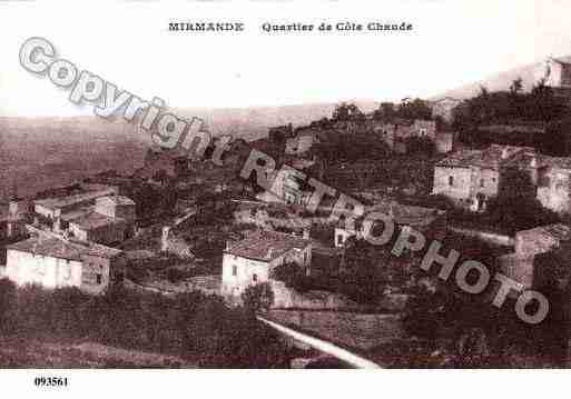 Ville de MIRMANDE, carte postale ancienne
