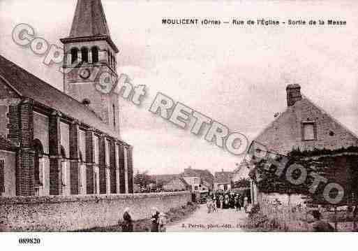 Ville de MOULICENT, carte postale ancienne