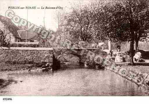 Ville de VERLIN, carte postale ancienne