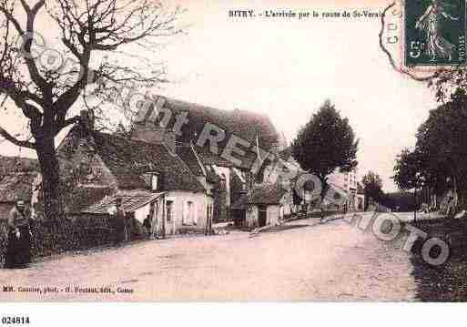 Ville de BITRY, carte postale ancienne